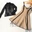 เซ็ตเดรส+เสื้อ ตัวเสื้อแขนยาวผ้าลูกไม่ซีทรูสีดำ thumbnail 3