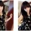 มินิเดรสเสื้อคอวีหน้า-หลังลายดอกไม้กราฟฟิกพิมพ์นูนสีดำเป็นกำมะหยี่กระโปรงเป็นเรเยอร์2ชั้นมี3สีนะค่ะ thumbnail 2