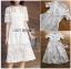 Dress เชิ้ตเดรสผ้าลูกไม้สีขาว thumbnail 3