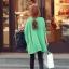 เสื้อแฟชั่นแต่งคอวีทรงสบายสีเขียวตามแบบนะค่ะ thumbnail 4