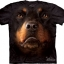 The Mountain Big Face Rottweiler Dog T-Shirts thumbnail 1