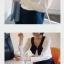 God is girl เสื้อผ้าแฟชั่นเกาหลี แขนยาวผ้ายืดเนื้อดีสีขาว thumbnail 4
