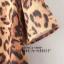 เดรสแฟชั่นเสื้อแขนสั้นลายเสือทรงปล่อยใส่แบบสบายๆ โทนสีน้ำตาล ไซส์ L thumbnail 11