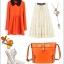 Maomaobag กระเป๋าสะพายสีส้มทรงสวยก้นทรงรี ด้านหน้าเป็นลายหนังจรเข้ thumbnail 2
