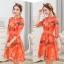 เดรสแฟชั่นเกาหลี สีแซ่บๆ โทนส้ม สวยสดใส สำหรับใคร ชอบสีแจ่มๆ จัดเลยค่ะ thumbnail 8
