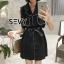 Mini dress โทนสีดำแขนกุด thumbnail 1