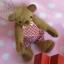 ตุ๊กตาหมีผ้าขนสั้นสีน้ำตาลขนาด 13 cm. - Cracker Boy thumbnail 5