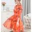 เดรสแฟชั่นเกาหลี สีแซ่บๆ โทนส้ม สวยสดใส สำหรับใคร ชอบสีแจ่มๆ จัดเลยค่ะ thumbnail 6