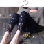 กางเกงยีนส์ทรงเดฟ ปลายขาขาดดีเทลเก๋ปักลายดอกไม้ thumbnail 4