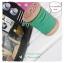 LCB6 : เชือกหนังแบน กว้าง 3 mm หนา 2 mm ราคาต่อ 1 หลา - โทนสีเขียวใบไม้ thumbnail 1
