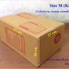 กล่องไปรษณีย์ฝาชนสีน้ำตาล No.M (27x43x20 cm.)