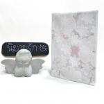 """ปกผ้าลูกไม้ ลายดอกไม้สีขาว เนื้อผ้าคอตต้อน ขนาด 7"""" ( Pocket Book )"""