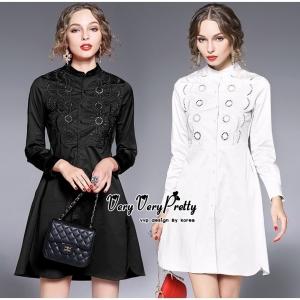 เสื้อเชิตทรงเก๋ มี 2 สี สีดำ สีขาว เล่นลายปักด้านหน้าเป็นลวดลายทรงกลมฉลุลายสวยลงตัวค่ะ Confirm By Vvp