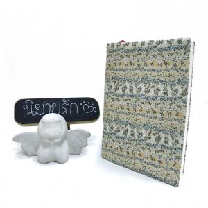 """ปกผ้าลายดอกไม้ เนื้อผ้าคอตต้อน ขนาด 7"""" ( Pocket Book )"""