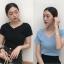 เสื้อไหมพรมผสม แต่งผ้าไขว้ด้านหน้าสวยหวานสไตล์เกาหลี มี 4 สี thumbnail 3