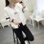 เสื้อคลุมแฟชั่น สีขาว ใส่่ได้ทุกฤดูสวยเท่ห์สไตล์เกาหลี thumbnail 7