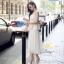 ชุดเซท สีขาว เสื้อ+กระโปรงอัดพรีท ผ้าลูกไม้เนื้อดี หนาสวย ทอสวยแน่น ลูกไม้ลายสวย เสื้อแบบปรับสายได้ค่ะ thumbnail 3