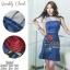 เดรสยีนส์ลุคสาวมั่น เนื้อผ้าเดนิมสีเข้มเกรดดีใส่สบาย ปักลายดอกกุหลาบสวยมากค่ะ Quality Confirm by 2Sister thumbnail 8