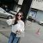 เสื้อแฟชั่นแบบเซท ดีเทลเก๋แต่งผ้าตาข่ายถักลายดอกไม้สวยน่ารักสไตล์เกาหลี thumbnail 8