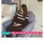 เสื้อยืดแฟชั่น คอกลม แขนยาวแต่งครึ่งบนลายริ้ว น่ารักสไตล์เกาหลี thumbnail 11
