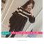เสื้อยืดแฟชั่น คอกลม แขนยาวแต่งครึ่งบนลายริ้ว น่ารักสไตล์เกาหลี thumbnail 13