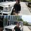 เสื้อแฟชั่นคอกว้าง โชว์ไหล่ มีสีขาวและสีดำ น่ารักสไตล์เกาหลี thumbnail 8