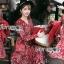 เดรสผ้าเครปพิมพ์ลายดอกไม้ตกแต่งเลเยอร์ ตัวนี้ที่คอเสื้อเป็นทรงคอวี ป้าย Lady Ribbon นะคะ thumbnail 4