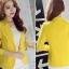 เสื้อสูทแฟชั่นผู้หญิงใส่ทำงาน สีเหลือง สไตล์เรียบหรู 5 size S/M/L/XL/XXL thumbnail 1
