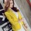 เสื้อสูทแฟชั่นผู้หญิงใส่ทำงาน สีเหลือง สไตล์เรียบหรู 5 size S/M/L/XL/XXL thumbnail 4