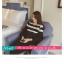เสื้อยืดแฟชั่น คอกลม แขนยาวแต่งครึ่งบนลายริ้ว น่ารักสไตล์เกาหลี thumbnail 7