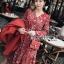เดรสผ้าเครปพิมพ์ลายดอกไม้ตกแต่งเลเยอร์ ตัวนี้ที่คอเสื้อเป็นทรงคอวี ป้าย Lady Ribbon นะคะ thumbnail 5