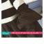 เสื้อยืดแฟชั่น คอกลม แขนยาวแต่งครึ่งบนลายริ้ว น่ารักสไตล์เกาหลี thumbnail 5