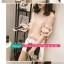 เสื้อแฟชั่น คอวี สีชมพูโอลโรส โชว์ไหล่แขนสั้นแต่งสายผูกเป็นโบว์น่ารัก thumbnail 2