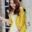 เสื้อสูทแฟชั่นผู้หญิงใส่ทำงาน สีเหลือง สไตล์เรียบหรู 5 size S/M/L/XL/XXL thumbnail 6