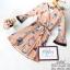 เดรสสั้น สีดำ สีน้ำตาลเนื้อผ้าcotton+polyester พิมพ์ลายผีเสื้อสีสันสดใส มีซับในอย่างดีค่ะ ดีเทลแขนยาวห้าส่วน ปลายแขนบานสวย กระโปรงระบายบาน ช่วงเอวมีเชือกผูกโบว์น่ารักๆ งานป้าย2sister thumbnail 17