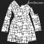 Dress สายเดี่ยวไหล่เดี่ยวเเขนยาว Black / White เดรสทรงป้ายผูกเอวด้านข้าง ผ้าดีพิมลายกราฟฟิก ตัวนี้บอกเลยสินค้าจริงใส่แล้ว เกร๋มาก สำเนา thumbnail 8