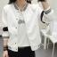 เสื้อคลุมแฟชั่น สีขาว ใส่่ได้ทุกฤดูสวยเท่ห์สไตล์เกาหลี thumbnail 5