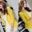 เสื้อสูทแฟชั่นผู้หญิงใส่ทำงาน สีเหลือง สไตล์เรียบหรู 5 size S/M/L/XL/XXL thumbnail 5