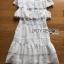 เดรสผ้าคอตตอนสีขาวปักและฉลุลายตกแต่งระบาย ตัวนี้เป็นแนวเฟมินีนหวานๆ ออกคุณหนูนิดๆ เนื้อผ้าทั้งตัวเป็นคอตตอนฉลุลายและปักเหมือนลายผ้าลูกไม้ ป้าย Lady Ribbon thumbnail 9