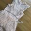 เดรสผ้าลูกไม้สีพีชตกแต่งเลเยอร์ ตัวนี้เป็นแนวค็อกเทลไว้ใส่ไปงานแต่งงานหรือปาร์ตี้ ป้าย Lady Ribbon นะคะ thumbnail 10