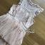 เดรสผ้าลูกไม้สีพีชตกแต่งเลเยอร์ ตัวนี้เป็นแนวค็อกเทลไว้ใส่ไปงานแต่งงานหรือปาร์ตี้ ป้าย Lady Ribbon นะคะ thumbnail 9