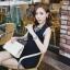 ชุดจั้มพ์สูทขาสั้น แขนกุด สีกรมท่า และสีชมพู แบบสวยหวานสไตล์เกาหลี thumbnail 3