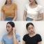 เสื้อไหมพรมผสม แต่งผ้าไขว้ด้านหน้าสวยหวานสไตล์เกาหลี มี 4 สี thumbnail 1