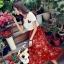 ชุดเซท สีส้มอิฐ เสื้อยืดปักลายกุหลาบ+ผ้าชีฟองเกาหลี ผ้าพิมพ์ลายดอกไม้ผ้ามีลายเส้นๆในตัว thumbnail 7