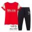 ชุดเซท เสื้อ+กางเกง เสื้อสีชมพู กางเกงสีชมพู เสื้อสีแดง กางเกงดำ เสื้อสีขาว กางเกงสีดำ ผ้ายืดคอตตอนสกรีนลาย MILAN ผ้าไม่หนามากค่ะ ยืดได้เยอะ แบบใส่สบายๆ thumbnail 8