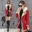 เสื้อคลุมแจ็คเก็ตหนัง สีส้ม สีดำ ดีเทคด้วยการดีไซร์ซิปรุดสุดเก๋ สไตล์เกาหลี ใส่แล้วดูเท่ห์ Premium Quality by Cliona thumbnail 3