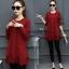 เสื้อแขนยาวสไตล์สาวเกาหลี มี 2 สี แดง /เขียว งานสวยมากค่ะ thumbnail 3