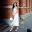 ชุดเซท สีขาว เสื้อ+กระโปรงอัดพรีท ผ้าลูกไม้เนื้อดี หนาสวย ทอสวยแน่น ลูกไม้ลายสวย เสื้อแบบปรับสายได้ค่ะ thumbnail 6