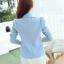 เสื้อสูทผู้หญิง สีฟ้าพาสเทล ใส่ทำงานไหล่ตุ๊กตาเข้ารูป สไตล์เรียบหรู thumbnail 2