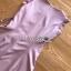 เดรสผ้าเครปสีชมพูอ่อนตกแต่งเชือกผูก ตัวนี้เป็นแนวเฟมินีนหวานๆ ลุคคุณหนูนิดๆ ทรงแขนกุด ที่ปลายแขนเสื้อตกแต่งลูกไม้ ป้าย Lady Ribbon thumbnail 12